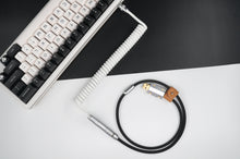 Load image into Gallery viewer, MelGeek Handmade USB Cable Coil on the Keyboard Side Panda |melgeek.com