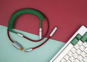 MelGeek Handmade Custom  Sleeved USB Cable Camping Colorway|melgeek.com
