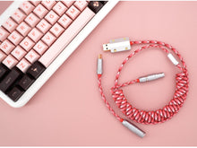 Load image into Gallery viewer, MelGeek Handmade Custom  Sleeved USB Cable Themed Type-C Mini Micro USB Cable