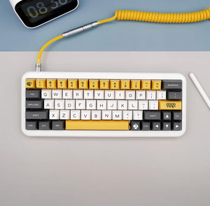 MelGeek Handmade Custom  Sleeved USB Cable Chocolatier / DND /Metropolis / Canoe Electrophoresis Yellow  /Maxkey Themed Cable - MelGeek