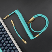 Load image into Gallery viewer, MelGeek Handmade Rubber  USB Cable with Aviator Type-C Mini USB  Cable |melgeek.com