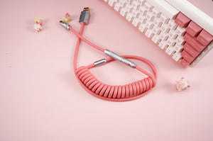 MelGeek Handmade Coiled Rubber USB Cable with Aviator|melgeek.com