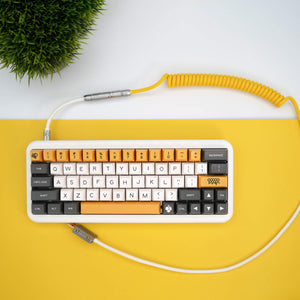 MelGeek Handmade Custom  Sleeved USB Cable Classic Black ,GMK Jamón, Striker, SA Nautilus, Banana Themed Cable - MelGeek