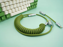 Load image into Gallery viewer, MelGeek Handmade Coiled USB Cable with Aviator |melgeek.com