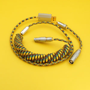 MelGeek Handmade Custom  Sleeved USB Cable Themed Type-C Mini Micro USB Cable