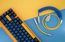 Load image into Gallery viewer, MelGeek Handmade Custom  Sleeved USB Cable  Wavez IKEA Themed Type-C Mini Micro USB  Cable