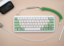 Load image into Gallery viewer, MelGeek Handmade Custom  Sleeved USB Cable GMK Violent on Cream /Filco Cheese Green /Camping /Composition /Flamingo Themed Cable - MelGeek