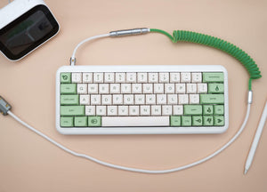 MelGeek Handmade Custom  Sleeved USB Cable GMK Violent on Cream /Filco Cheese Green /Camping /Composition /Flamingo Themed Cable - MelGeek