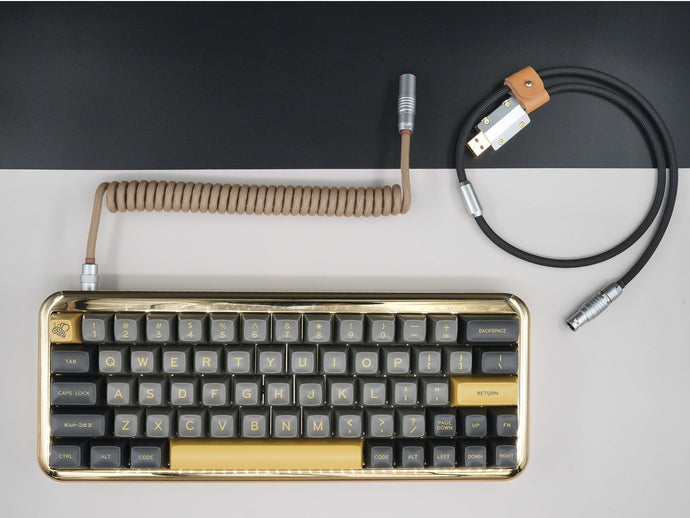 MelGeek Handmade USB Cable Coil on the Keyboard Side Sandy Black |melgeek.com