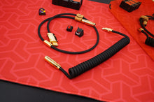 Load image into Gallery viewer, MelGeek Handmade Custom Coiled USB Cable with Gold Aviator