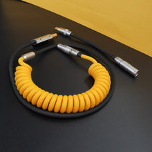 Load image into Gallery viewer, MelGeek Handmade Custom  Sleeved Coiled USB Cable Yellow Black