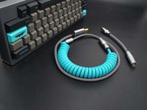 MelGeek Handmade Custom Coiled USB Cable with Aviator