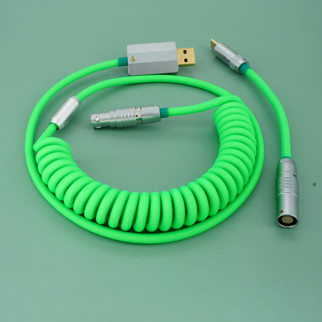 MelGeek Handmade Custom  Sleeved USB Cable Fluorescence Type-C Mini Micro USB  Cable |melgeek.com