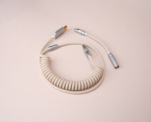 Load image into Gallery viewer, MelGeek Handmade Coiled USB Cable with Aviator Christian Pink Colorway