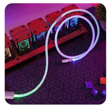 Load image into Gallery viewer, MelGeek Handmade Custom RGB  Gradient Color Glowing USB Cable