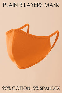 Cotton Jersey Seamed Face Mask