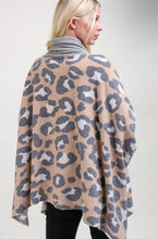 Load image into Gallery viewer, Mommy and Me, Animal Print Cowl Neck Poncho