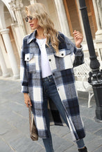 Load image into Gallery viewer, Joaquin, Long Plaid Shirt Dress Jacket