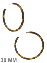 Load image into Gallery viewer, Stylish LeNese Acetate Round Hoop Earrings