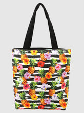 Load image into Gallery viewer, Tropical Tote Bag with handle and zipper closure