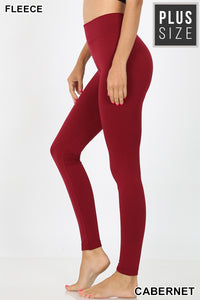 Leggings, Fleece super soft Leggings- Plus