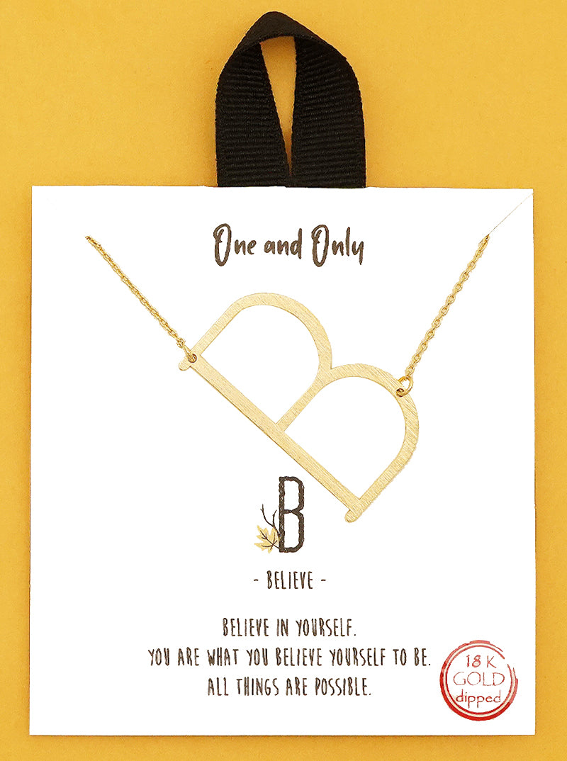 Letter Initials, 18k Gold Delicate Necklace