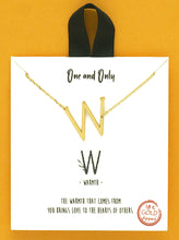 Load image into Gallery viewer, Letter Initials, 18k Gold Delicate Necklace