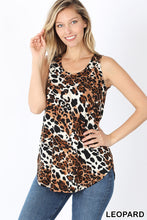 Load image into Gallery viewer, Leo Tank, Leopard Print Rayon Tank Top