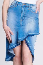 Load image into Gallery viewer, Jessie, Ruffle Front Denim Skirt