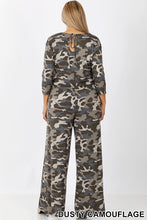 Load image into Gallery viewer, 3/4 Sleeve Catania, One Piece Camouflage Jumpsuit with Pockets
