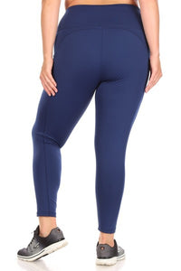Active  Leggings, Yoga Style with Pockets- S-3X