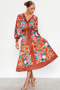 Casandra, V-neck Wrap Dress