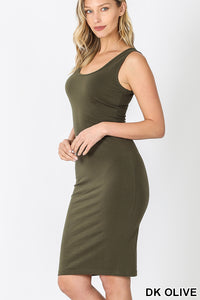 Neesha, Sleeveless Scoop Neck Jersey Dress
