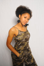 Load image into Gallery viewer, Catania, One Piece Camouflage Spaghetti Strap Jumpsuit with Pockets