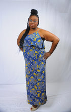 Load image into Gallery viewer, Maxine, Floral Print Spaghetti Strap Maxi Dress - Plus
