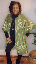 Load image into Gallery viewer, Faux Suede Printed Long Jacket with Pockets