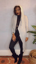 Load image into Gallery viewer, Della, Long Jersey Cardigan w/ Hood
