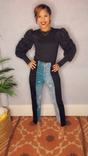 Load image into Gallery viewer, 2 Tone Denim Jegging High Waist Pants