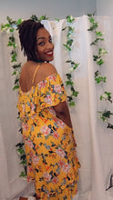 Load image into Gallery viewer, Grenada, Floral Cold Shoulder Ruffle Layered Dress