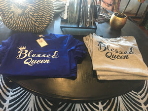 Blessed Queen, Inspirational T-shirt Top