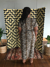 Load image into Gallery viewer, Essence, Short Sleeve Animal Print Maxi Dress -Plus