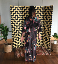 Load image into Gallery viewer, Ashley, Drop Shoulder Floral Print Jumpsuit