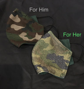 Camouflage Print Soft Mask Face Covering