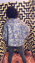 Load image into Gallery viewer, Azalea, Cocoon Lurex Camouflage Shrug Cardigan