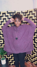 Load image into Gallery viewer, Shelia, Melange Cowl Neck Poncho