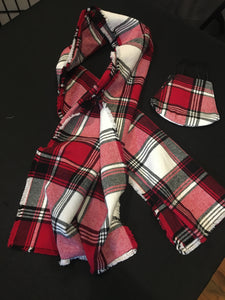 Custom LeNese Flannel Scarf and Mask Set