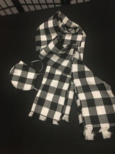 Load image into Gallery viewer, Custom LeNese Flannel Scarf and Mask Set