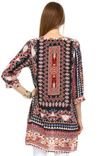Load image into Gallery viewer, Anastasia, 3/4 Sleeve Woven Tunic Top
