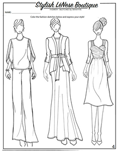 Fashion Coloring Book - Printed Copy