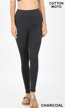 Load image into Gallery viewer, Leggings, Full length with pin tuck details
